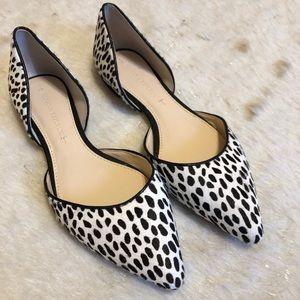 Banana Republic Shoes 6 Calf Hair Polka Dot flats